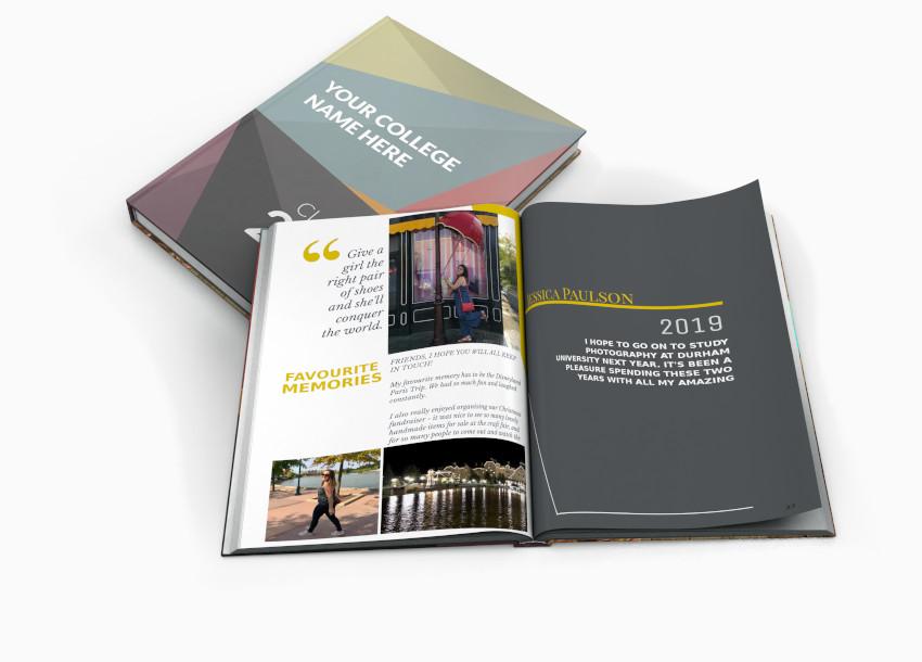 Hardback yearbook from online creator